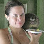 I fed a night monkey