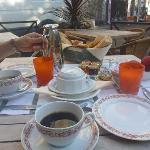 Breakfast at a terrace