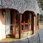La terrasse de notre hutte