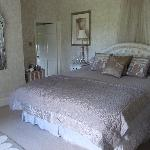 Our gorgeous, comfortable king sized bed in the Cream Room