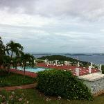 View from Villa over common pool