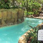 Just a small part of the nice lazy river on site