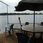 View of the White Nile from the beach bar