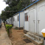 Accommodation in metal cabins