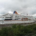 From balcony - c. Columbus - cruise ship