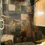 """Forest"" has an amazing slate multi head deluge shower!"