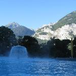 View of mountains from the thermal baths