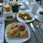 A selection from the buffet breakfast