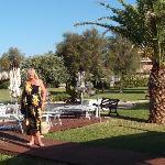 My wife Lee in the garden