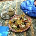morrocian salad and the famous tea
