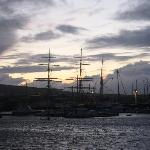 tall ship in harbour