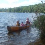 Mark in the canoe with the kids - lots of fun was had by all!