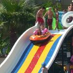 my daughter on the water slide