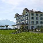 Seitenansicht der Villa Honegg