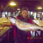Just one of the Salmon we caught in Seward