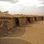 Maasai village dwellings