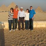 Pyramids of Giza with Mohamed