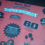 60th Anniversary Menu Advertisement