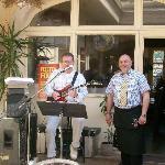 Jazz guitar guy & waiter...