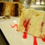 Choco Walnut Torte and Strawberry Shortcake