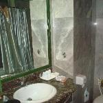 The bathroom - a little dark