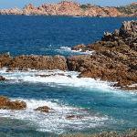 Blue sea close to hotel