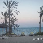 vue de la plage(très peu de monde)