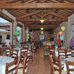 festa di compleanno sotto il portico