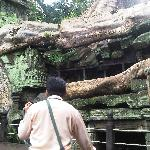 Saron guiding me through the temple