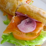 smoke salmon ciabatta - decent sandwich