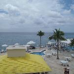 view of the pool area from ou room balcony