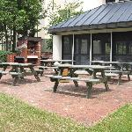 gas grills and a picnic area for your enjoyment!