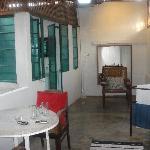 Upstairs sitting area + bathroom