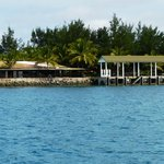The dive centre and jetty.