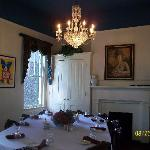 One of the intimate dining rooms
