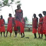 Maasai dance at the lodge