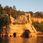 miner's castle at sunset