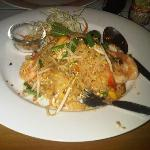 pad thai in the hotel resto