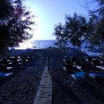 spiaggia poco dopo l'alba