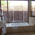 spacious deluxe casita bathroom (double sinks, water closet, separate bath and shower)