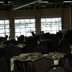 Tables being set up for reception