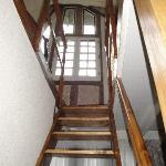 L'escalier pour accéder au Bureau