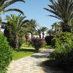 The Beautiful Gardens Leading Down to the Private Beach.