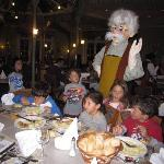Caracters at the dinner in the inventions restaurant