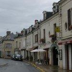het hotel ligt aan de abdij van Fontevraud