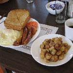 Breakfast at the restaurant