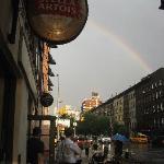Summer thunderstorm & rainbow along the High Line