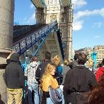 We were watching a video when the bridge started going up - ran down the flights of stairs and c