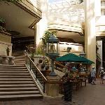 The hotel main floor.