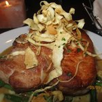 Pork PorterHouse with parsnips